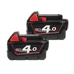 2 Batterie Milwuakee M18 B4...